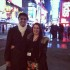 EMPIRE STATE OF MIND --  Central students Jeffrey Dean and Cassidy Anderson in Times Square