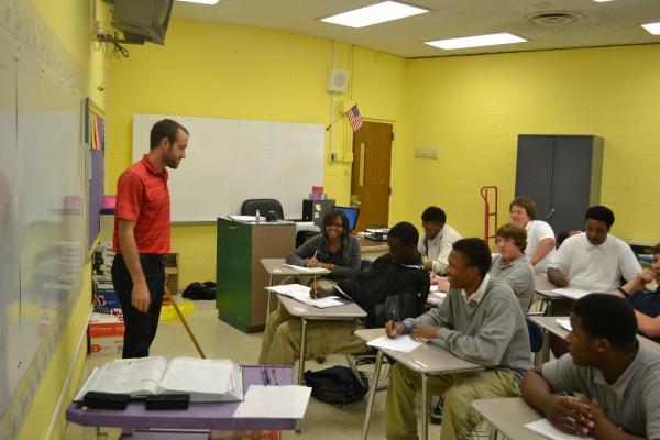 Mr. Robinson, New math teacher