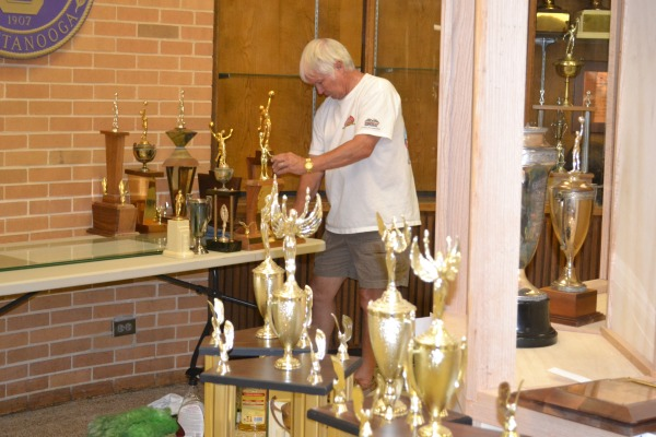 PTSA Cleaning trophies