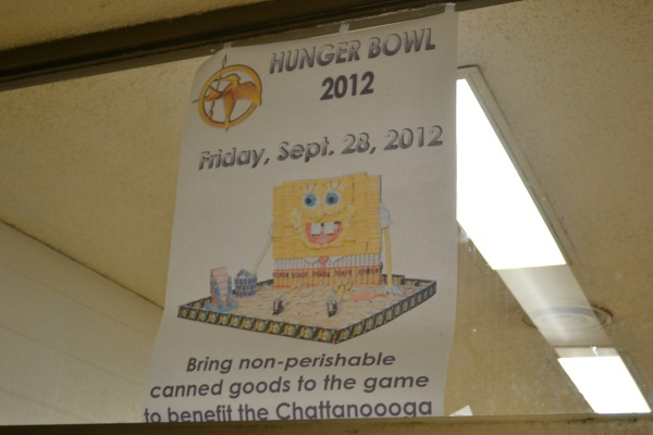 HUNGER BOWL 2012 -- poster advertising Central's food drive