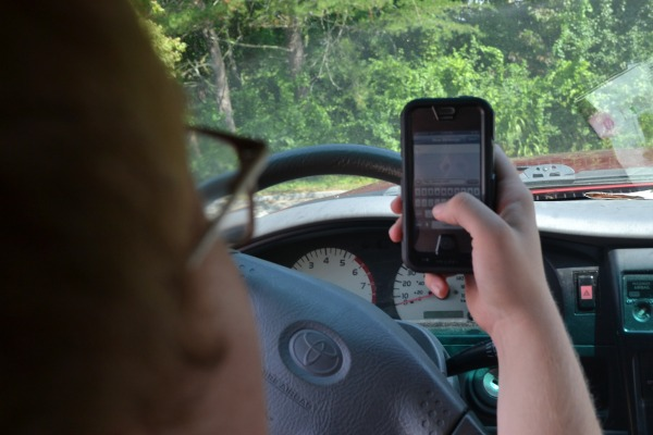 TEXTING AND DRIVING -- Nearly one-fourth of all accidents involving young drivers involve texting and driving.