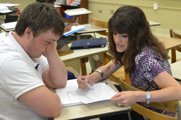 NEW ENGLISH TEACHER --  Mrs. Fannon is the new English 11 teacher