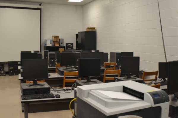 NEW COMPUTER LAB -- The new computer lab has 32 new computers and one new printer
