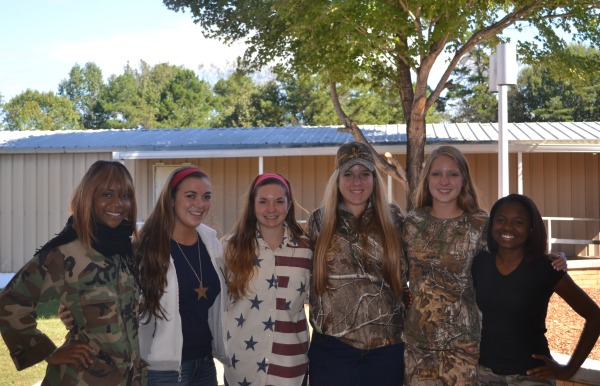 HOMECOMING QUEENS -- The nominees for homecoming queens  Ashley Baker, Kendall Cooper, Hannah Miller, Megan Moore, Kelly Campbell, and Raven Goodwin