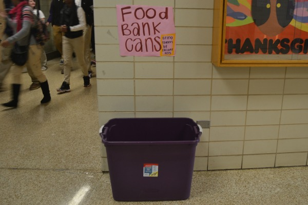 CAN FOOD -- National Honors Society is doing its' can drive this year for the homeless