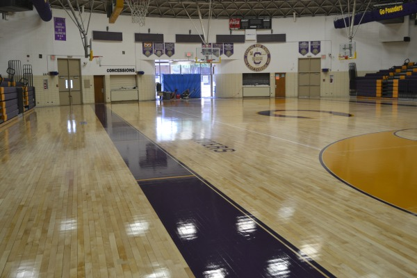 NEW FLOOR -- Central High School's gym is having a remodel on its floor
