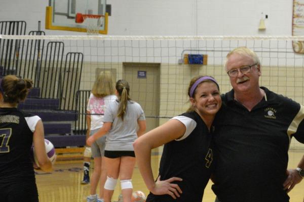 A COACH AND HIS PLAYER -- Coach Brock and Tiffani Estep
