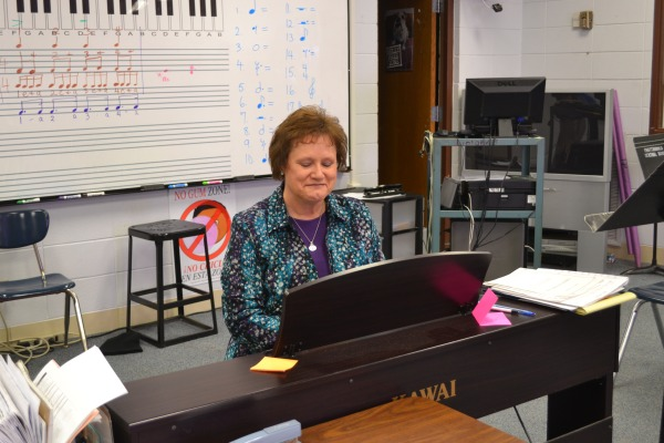 PREP FOR THE PRIME -- Dr. Boutwell gets ready for the exciting auditions.