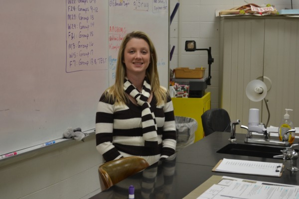 TRUE TEACHER -- Mrs. Farrow received a grant