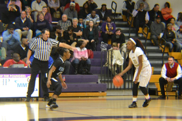 FROM PLAYER TO COACH -- Coach Sandrea Sylman was one of the Lady Pounders' star players during her time on the team. File photo from 2014.
