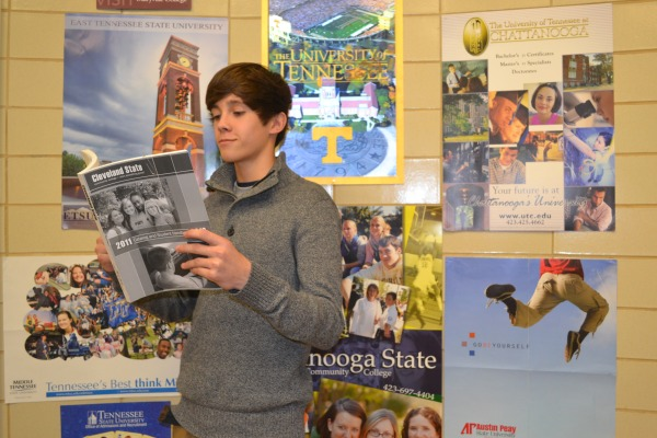 LOOKING FOR COLLEGE -- Garren Miller is looking at his options for college.