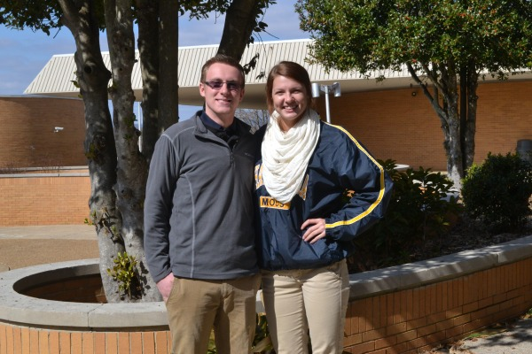 SPEAKERS -- Josh Baierl and  Tiffani Estep our the 2014 class representative and facility representative.
