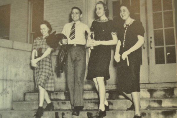 SOPHOMORE OFFICERS OF 1939-- Emily Johnston, Mack Jordan, Jocelyn Peeler, Melba Vick  were the officers of the sophomore officers of 1939.