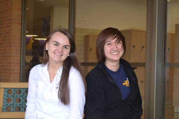 Caitlin Maupin, left, and Michelle Hoang, right