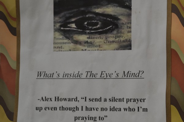 LOGO FOR THE EYE -- Posters are up around Central to catch the attention of both writers and readers.