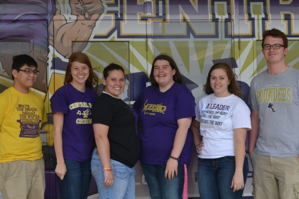 THE SCHOLARS--(From left to right) Matthew Lawrence, Sara Sanchez, Hali Smith, Jamie Key, Alexys Jones, and Riley Hicks