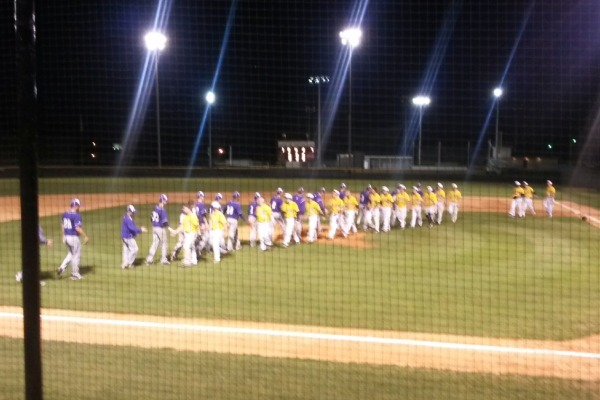 GOOD GAME --  The Pounders shake hands with the opposing team after the game.