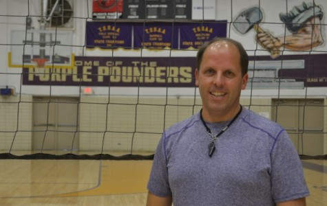 NEW VOLLEYBALL COACH -- Coach Baughman is very excited to be a new addition  to the Pounder sports family!