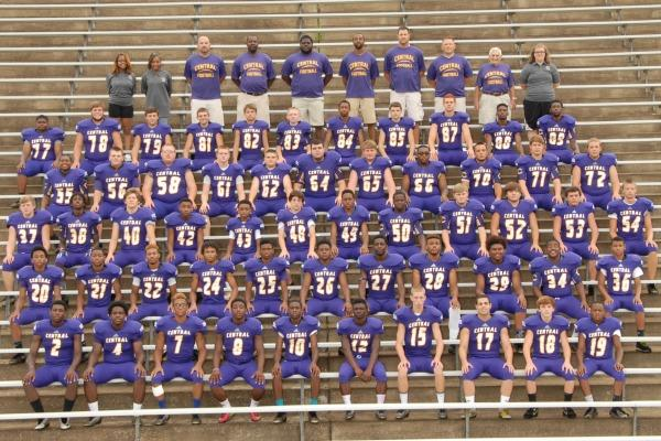THE GUYS IN GOLD AND PURPLE -- Central's 2014 varsity football players always play like champions.
