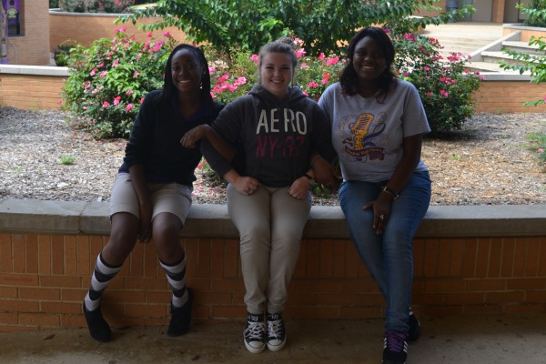 GIRL POWER -- From left to right: officers Monet Henderson, Kassidy Hope, and Lakia Chin.