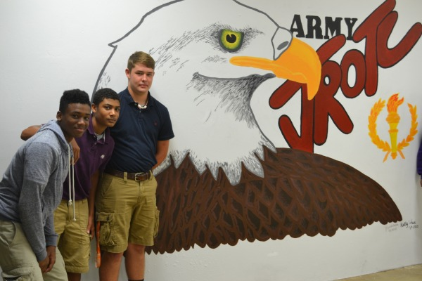 EAGLE EYE -- Three members of Centrals  JROTC are (left to right) James Walker, Darren Jamerson, Hayden Forgey.
