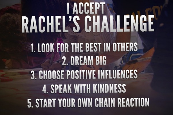 RACHEL'S CHALLENGE -- This moving program is changing lives one step at a time through kind gestures.