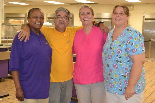 ALL SMILES -- (From left to right)  Mary Haynes, Antonio Mendoza, Devorah Sanchez, Jennifer Willoughby)