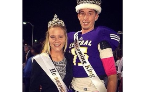 THE QUEEN AND THE KING -- Madison Rogers and Scout Morgan were crowned Homecoming Queen and King at the homecoming football game.