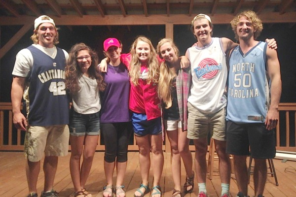 YOUNG LIFE LEADERS -- From left to right: Chase Cochran, Anabel Sastre, Megan Ware, Callie Scandlyn, Brittany Fiddler, and Tyler Delaney.