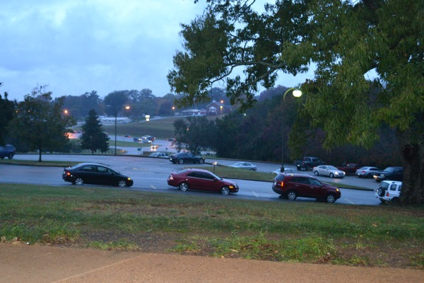 'FALL' BACK IN THE MORNING -- Central students get to school safely in the daylight of the new season.