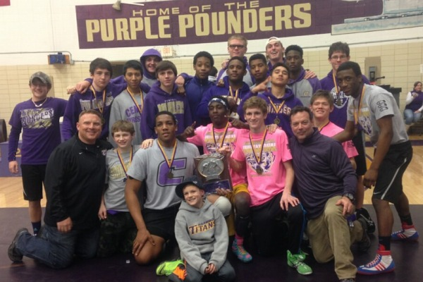 CENTRAL WRESTLERS TAKE FIRST PLACE AT CENTRAL INVITATIONALS--Central High School Wrestling Team
