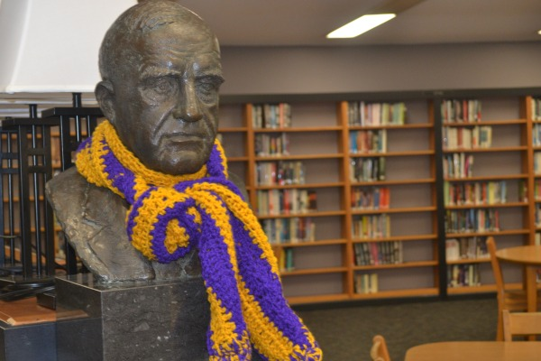 STILL WITH US -- A bust of E.Y Chapin is on display in the library named after him.