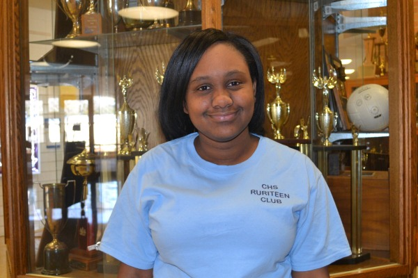 STUDENT CLIMBS EDUCATIONAL LADDER -- Junior Ayanna Esdaile looks forward to attending Govenor's School this summer.