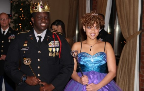 MILITARY BALL 2015 -- Military Ball King Devin Burney and Queen Jasmine Smith.