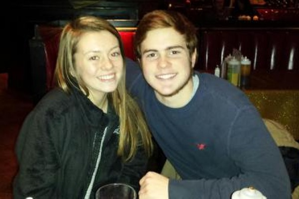 DATE NIGHT -- Haley Scarbrough and Chase Kelly enjoy a night out at one of their favorite restaurants,