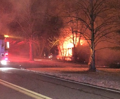 WALDON HOUSE FIRE -- The house of Brianna and Haley Dobbs and Kim and Kenny Waldon went up in flames on February 26, 2015.