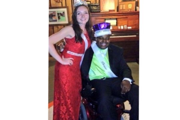 THE ROYALTY OF CENTRAL HIGH -- Summer Spurgeon and William Toney are crowned the 2015 Prom Queen and King.