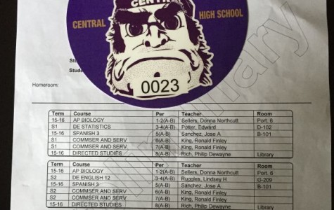 PREPARING FOR A NEW SCHOOL YEAR -- 2015-2016 schedules and parking passes were distributed on registration day.