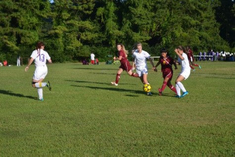 Girls' Soccer Claims Season's First Victory in 5-1 Romp Over Howard