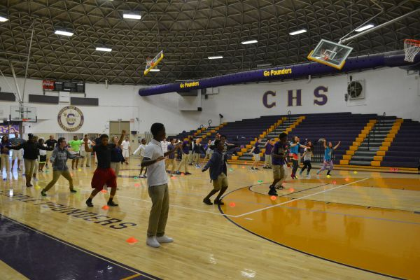WELLNESS STUDENTS DANCE THEIR HEARTS OUT -- A fresh assignment in gym class is getting students moving to their own beat.