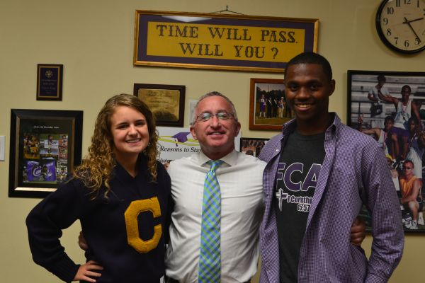 CHS IS REPRESENTED IN THE SSAC -- (From left to right) SSAC Chairperson Jadyn Snakenberg, CHS Principal Finley King, and Vice-Chairperson D'Andre Anderson.