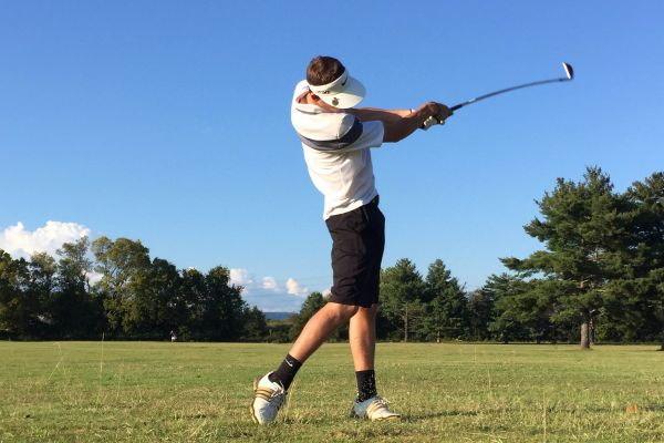 SWINGING HIS WAY TO STATE -- Senior Joseph Clark is working his way to the top as the only golfer for Central.