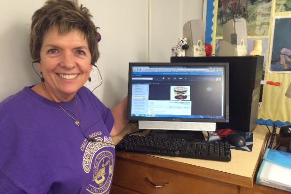 TEACHERS' JAMS -- Mrs. Sellers is listening to one of her favorite bands of all time, The Rolling Stones.