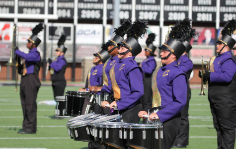 DRUMLINE MARCHES TO FIRST PLACE -- Central's Marching Band Drumline received first place at a recent competition.