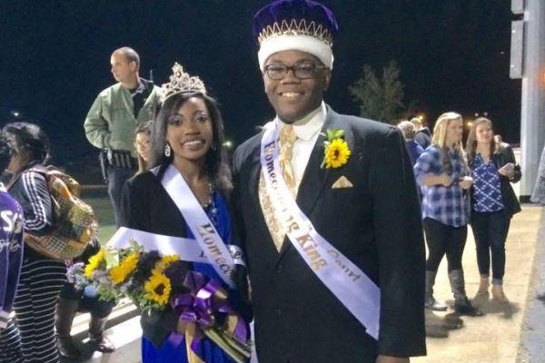 HOMECOMING COURT ROYALTY -- Seniors Delisha Davis and Matthew Gines take home the crown at Homecoming.