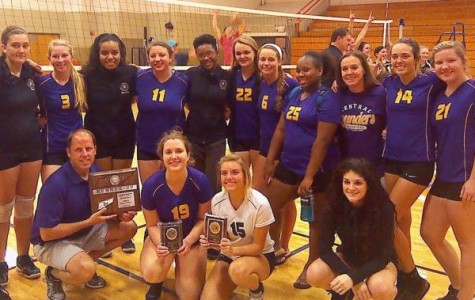 A HARD FOUGHT GAME  -- Central's volleyball team played hard at the District Tournament but came up short at the final tie-breaker.