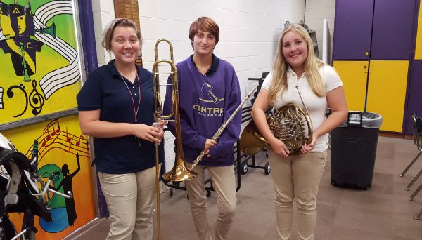 LOUD AND PROUD -- (From left to right) Hannah Stone, Lily deCordova, and Savannah Smith out-shone thousands of students and were invited to join the Lee Honor Band.