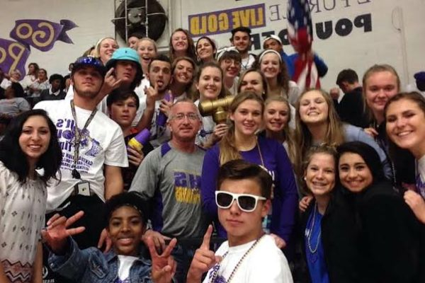 SHOW YOUR SCHOOL SPIRIT -- The CHS basketball team had a huge turnout at the