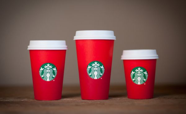 COMFORT IN A CUP -- No matter the exterior, Central students enjoy Starbucks drinks all year long.