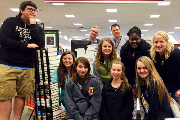 $5000 SPENT ON BOOKS FOR THE CHS LIBRARY -- At the Barnes and Nobel field trip, CHS spent a total of $5000 on brand new books for the Chapin Library!